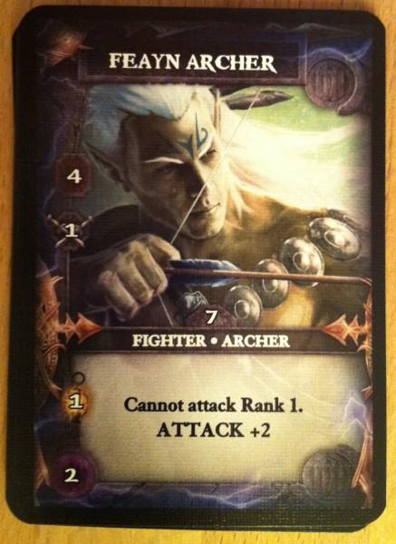 Beispielkarte eines der tapferen Helden, die die Monster in den Verlies besiegen wollen